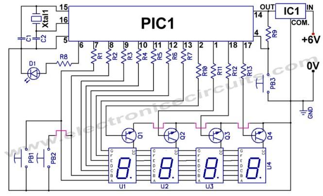 Digital Alarm Clock Circuit Diagram | Unique Alarm Clock