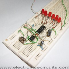 Led Wiring Diagrams Electrical Diagram Of Rice Cooker 4017 Knight Rider Circuit Electronic Circuits