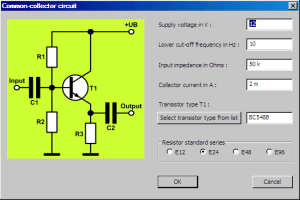 Transistor Amplifier Circuit Designer Software | Electronic Circuits