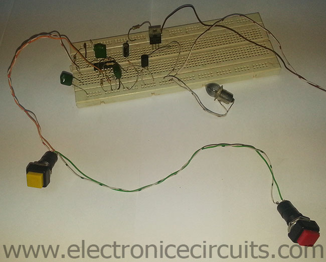 On Off Push Button Switch Circuit