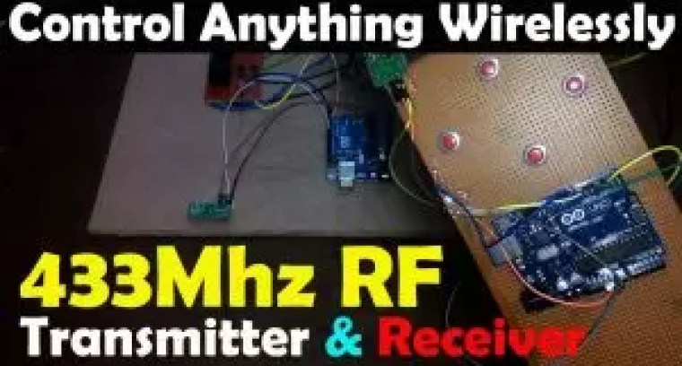 Arduino 433Mhz rf transmitter and receiver Interfacing and