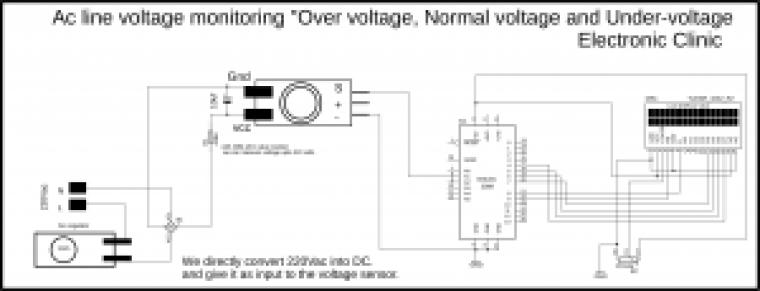 """Arduino AC voltage Monitoring """"Over voltage, Normal voltage"""