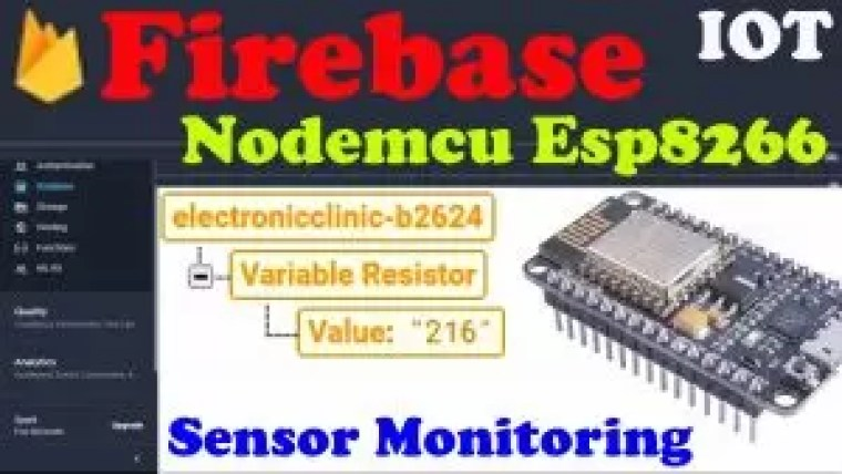 Nodemcu firebase database Tutorial