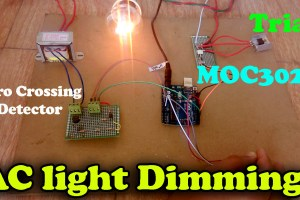 MOC3021 light dimmer