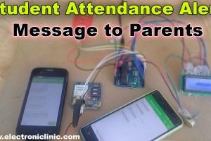 student Attendance Alert message