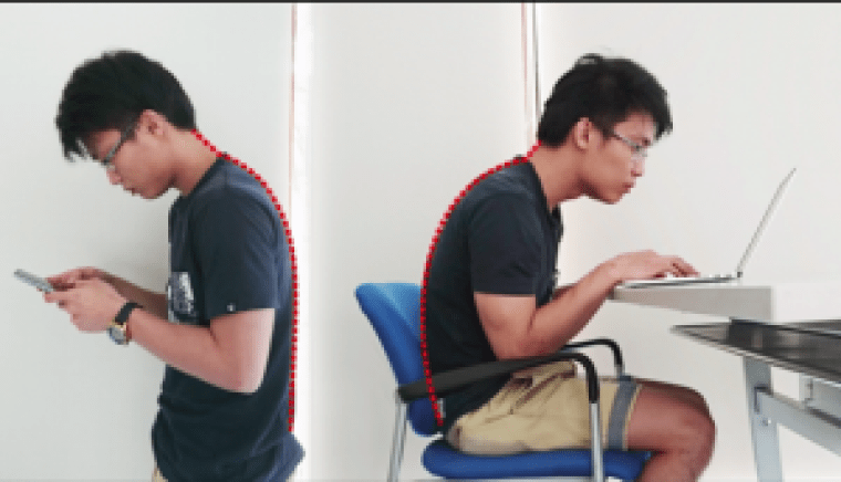 Human posture monitoring