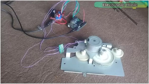 Salvage Stepper Motors and other useful parts from LaserJet