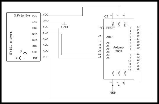 mpu6050 arduino wiring library and code to find the angle