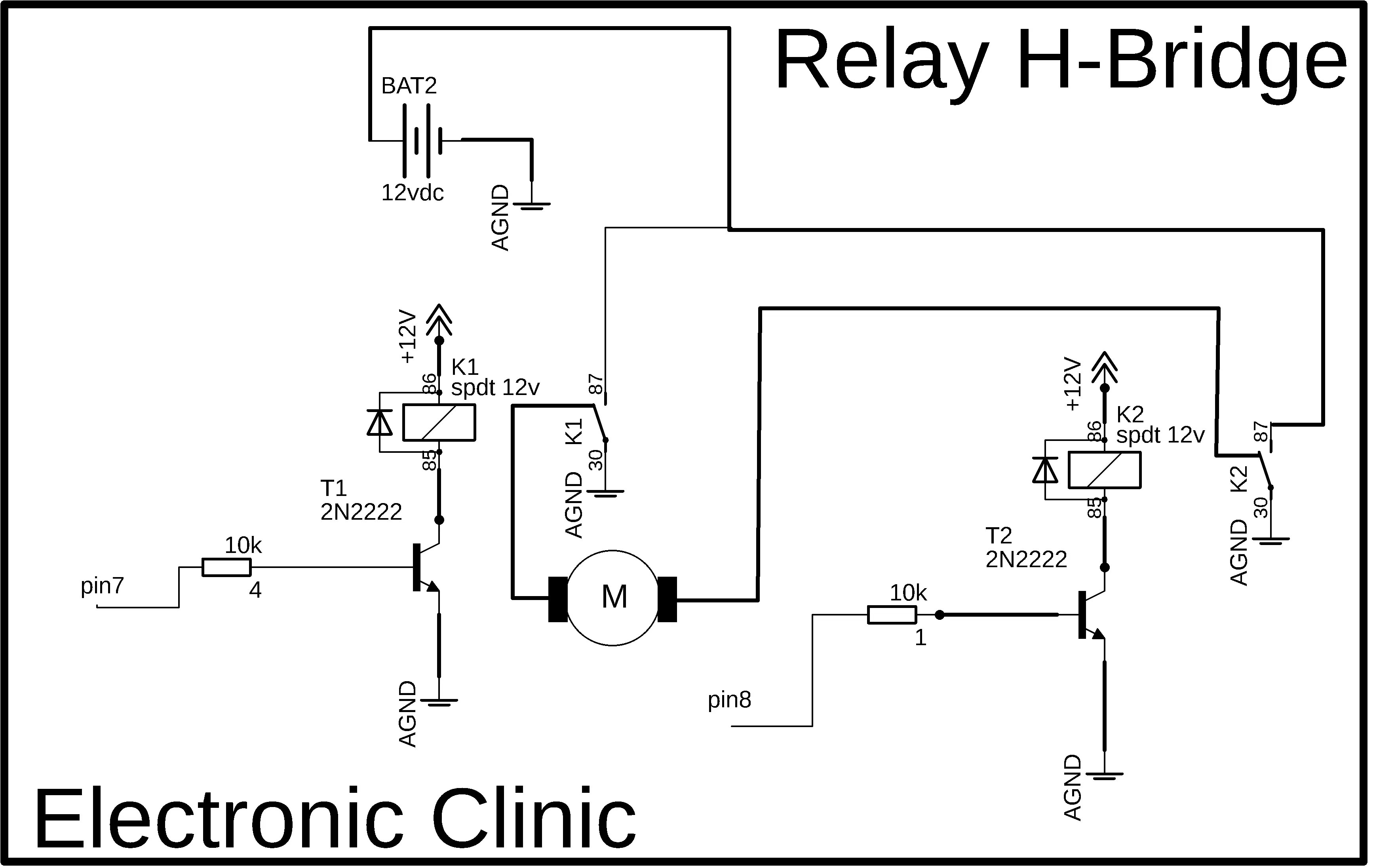 Relay H Bridge Driver Circuit, Simulation, and Arduino ... on