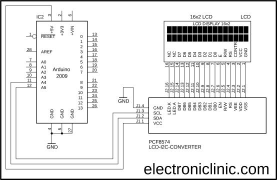 Arduino 16x2 I2C LCD