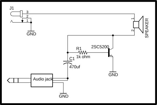 Diy One Transistor Class A Audio Amplifier Using 2sc5200