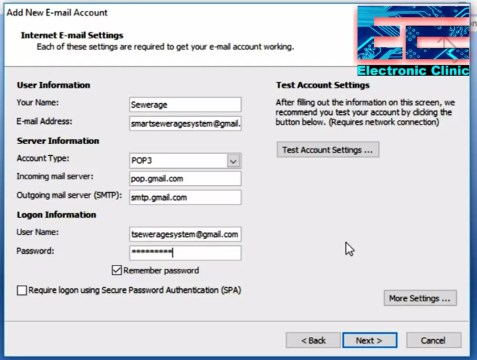 Configure Gmail in Outlook