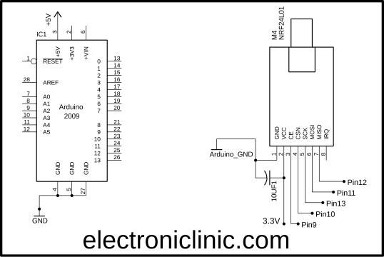 NRF24LO1 with Arduino