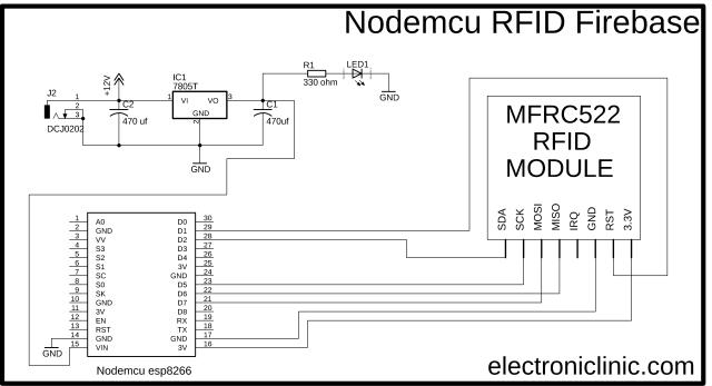 Nodemcu RFID Firebase