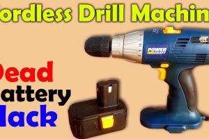Drill Machine Dead Battery