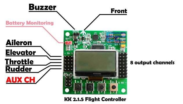 Quadcopter using KK 2.1.5 Flight controller