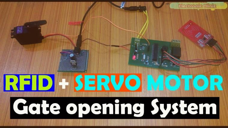 Arduino RFID Servo Motor Control system for Car Parking