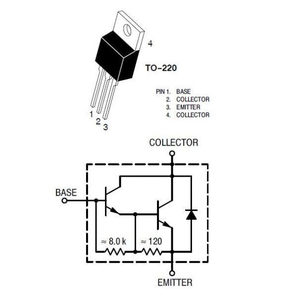 Transistor Darlington TIP102
