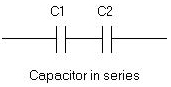 Series and parallel capacitors formula-calculator for