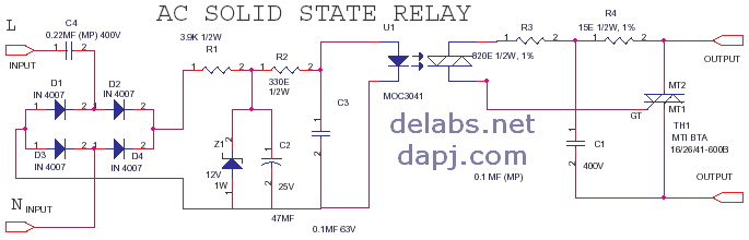 solid state relay wiring diagram headlight autozone ssr ac schematic all dataschematics of delabs