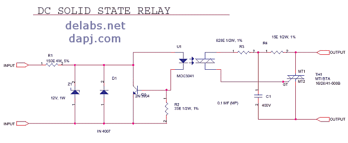 high power led driver circuit diagram lewis dot of ammonia nh3 dc-ac solid state relay or ssr - del30008