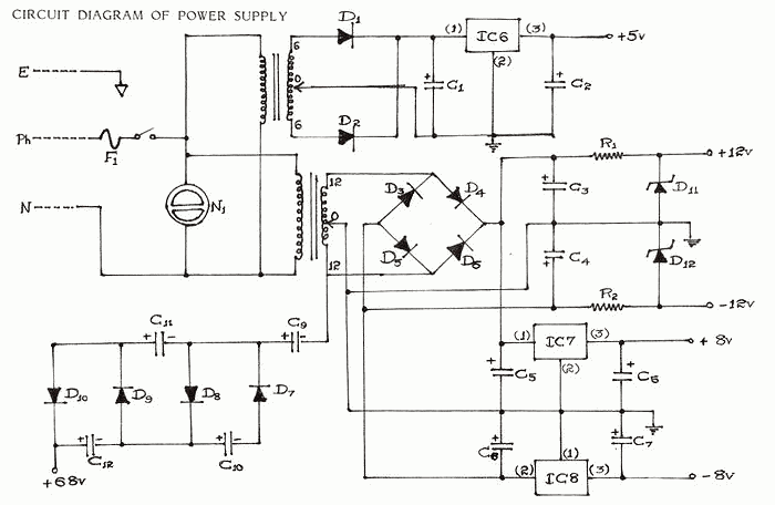 5v 500ma power supply circuit diagram