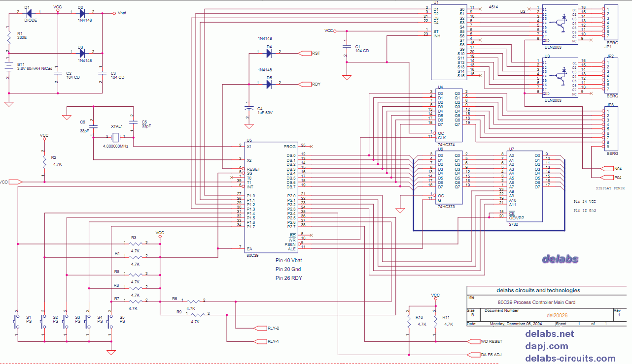 July 2014 Delabs Schematics Electronic Circuits August 2013 Circuit Diagrams 80c39 And Mcs48 Based Process Controller