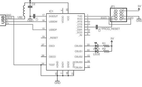 ft232rl arduino programming board