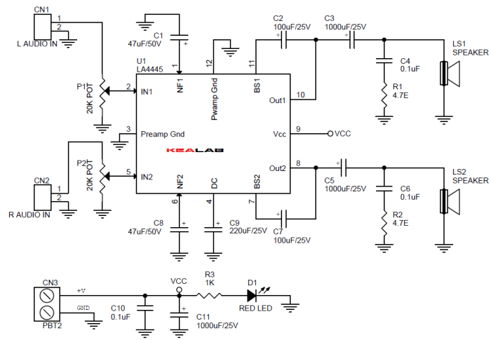5.5W_2_Channel_Audio_Amplifier_Schematic