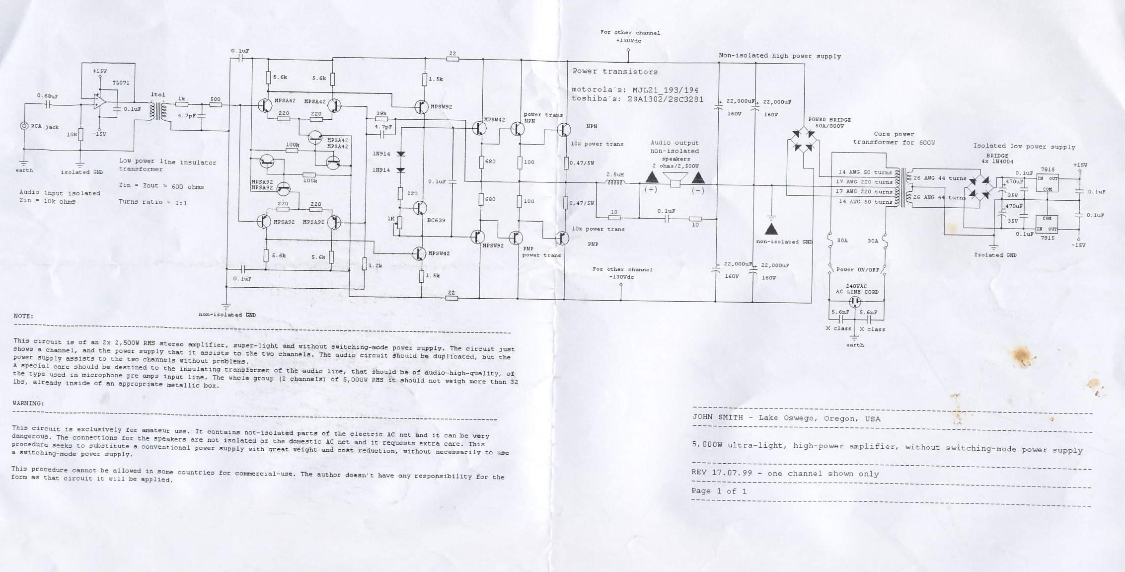 5000 watt amplifier circuit diagram how to make a phasor 5000w ultra light high power electronics lab