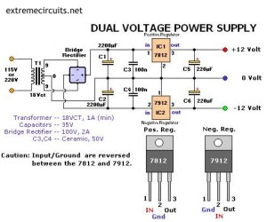 Dual Voltage Power Supply  ElectronicsLab