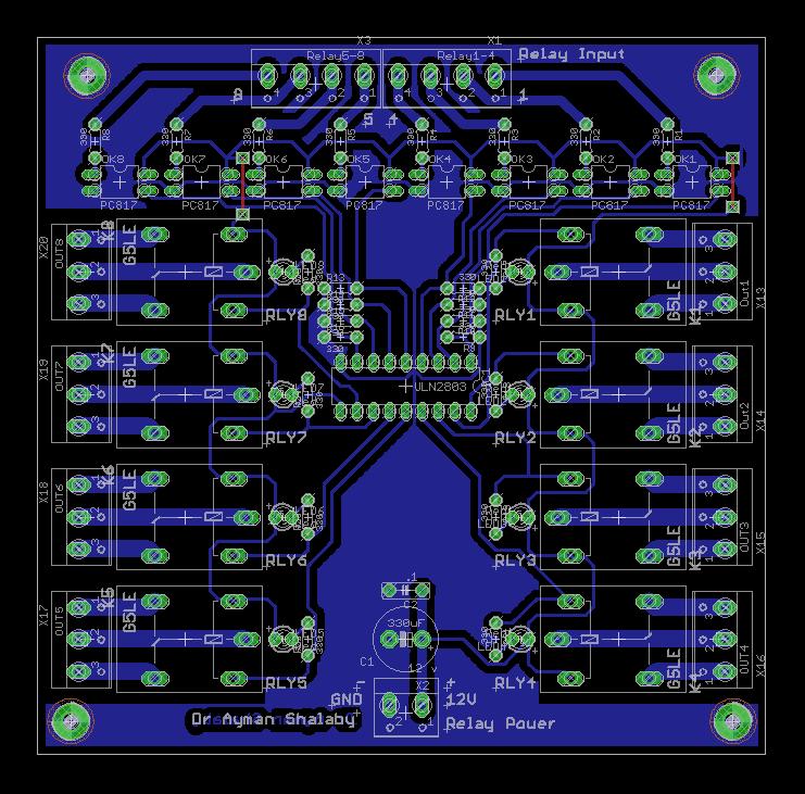 8 Optoisolated Relay board  ElectronicsLab