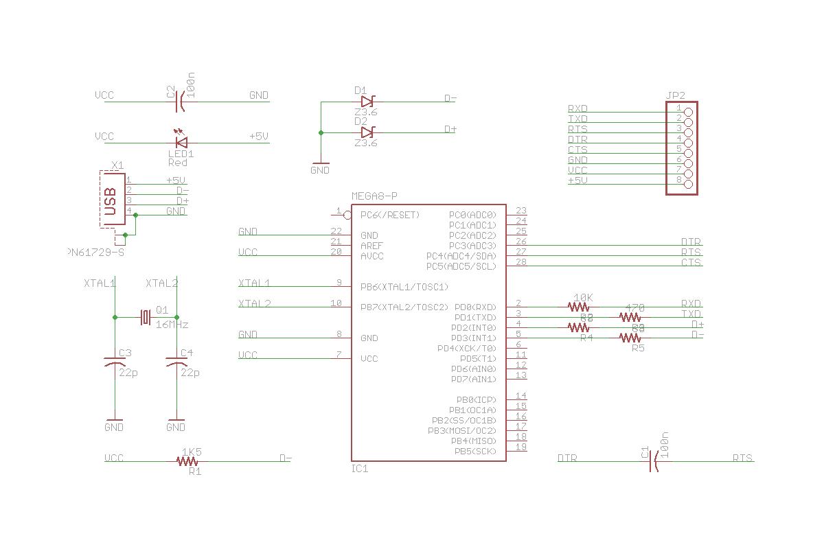 rca to usb converter schematic