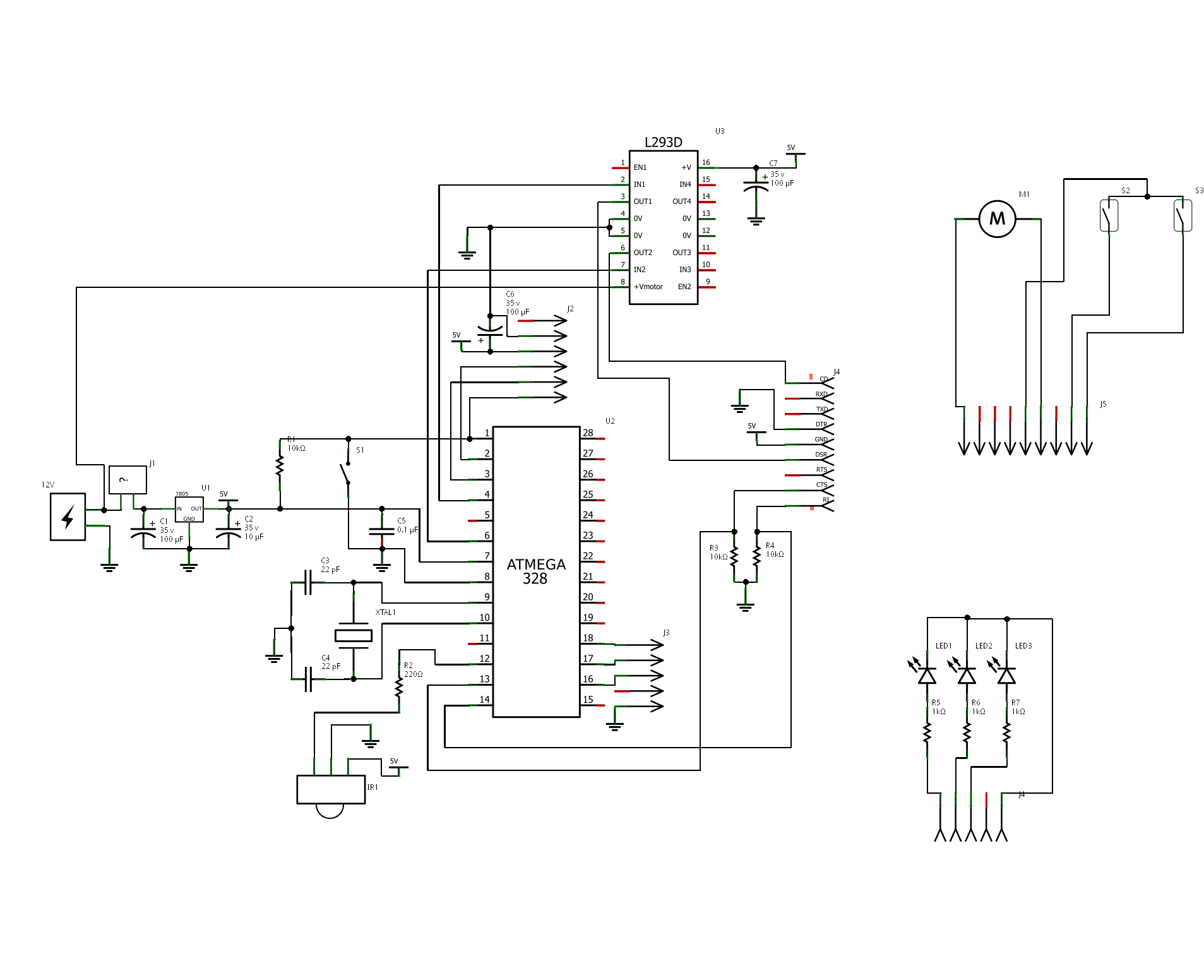Arduino Relay Schematic