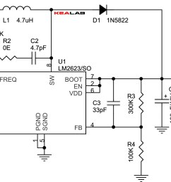the schematic diagram come from circuit step up dc dc converter 2 4v to 5v step [ 2268 x 1163 Pixel ]