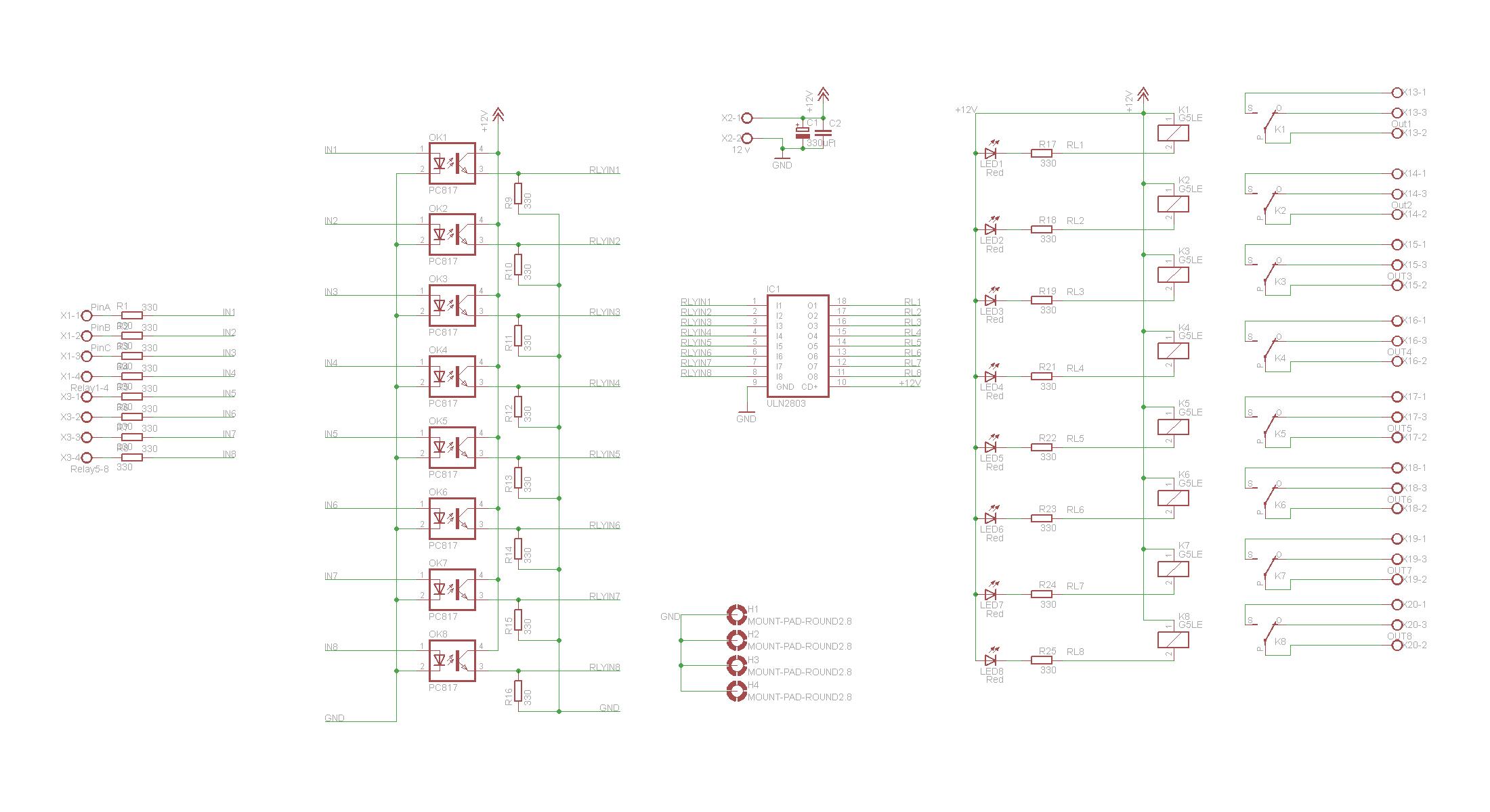 optoisolated relay board electronicslab