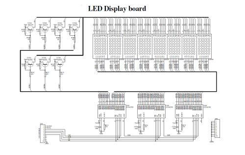 small resolution of download led display kit circuit diagram wiring diagram for you dot matrix led running display v2