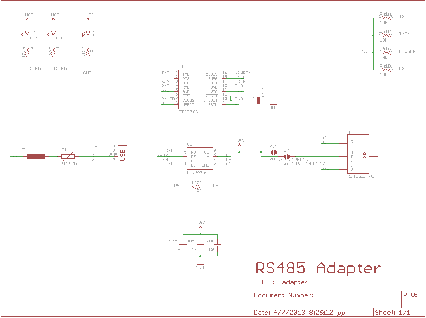 Usb Power Adapter Schematic