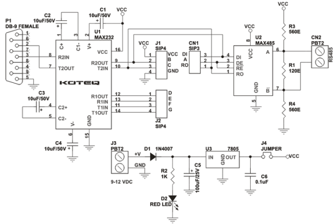rs232 to rs485 module  electronicslab