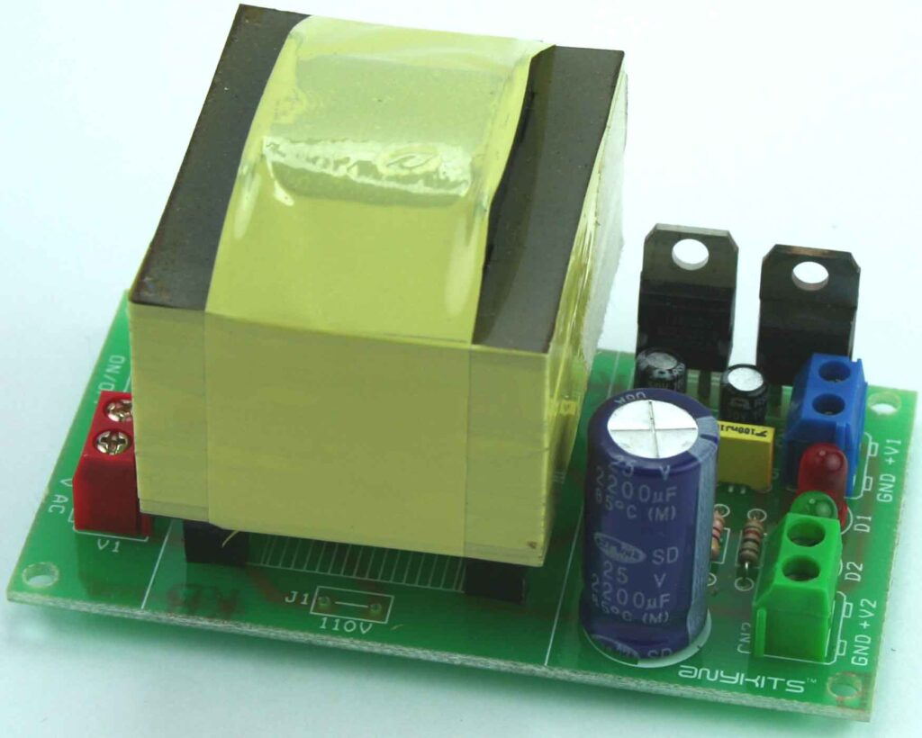 5v Dc Regulated Power Supply With Short Circuit Protection Schematic