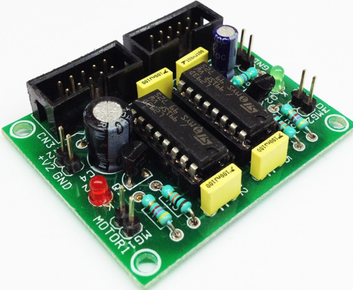Dual L293d Dc Motor Driver Module Schematic For Robot Motor Driver