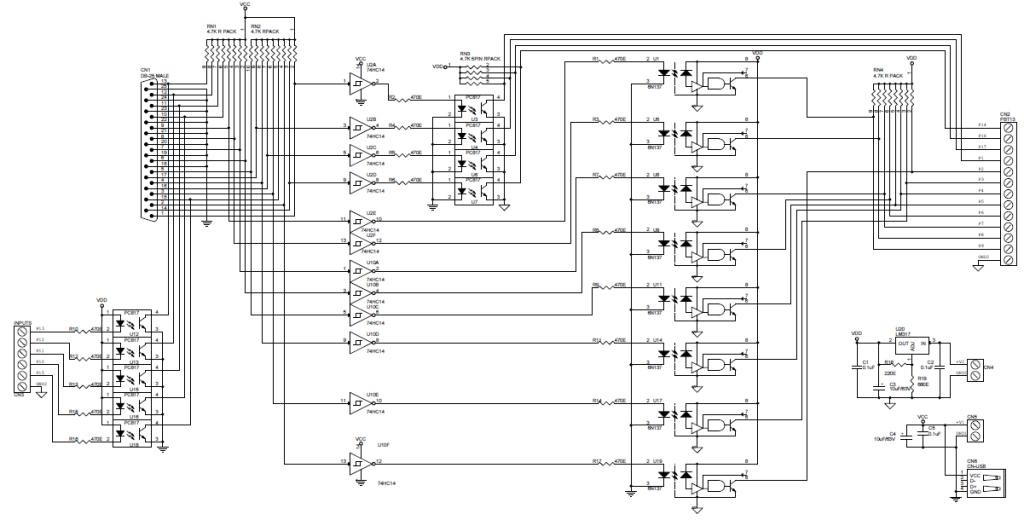 mach3 control panel wiring