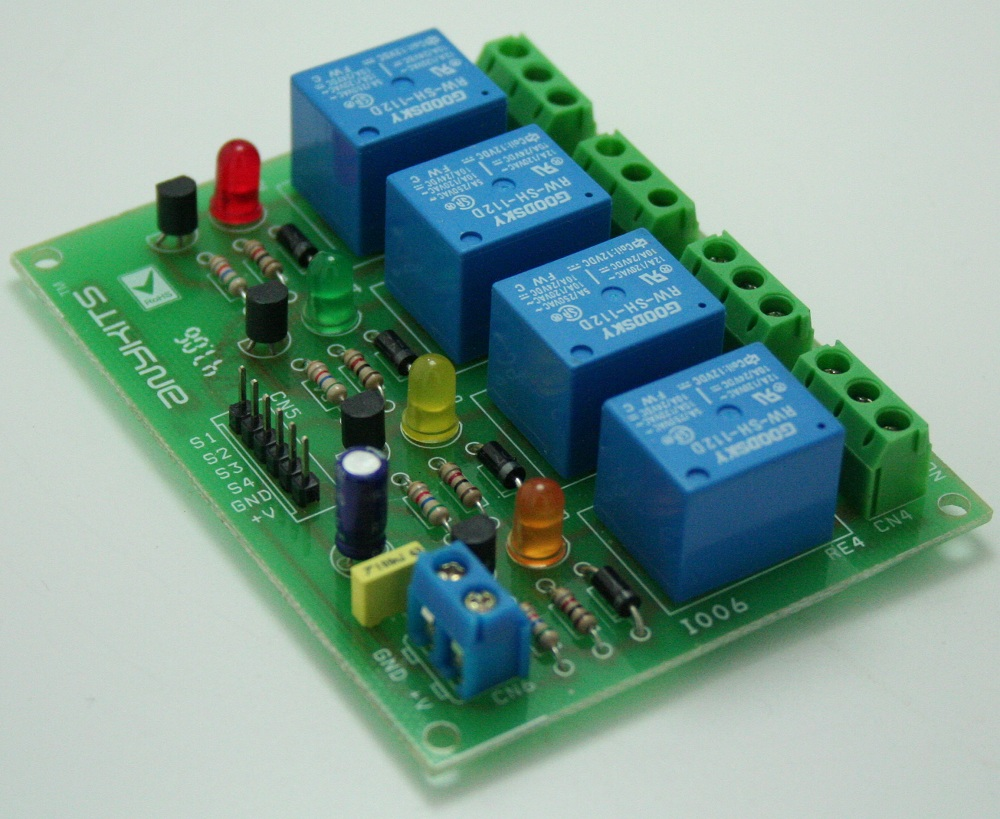 hight resolution of 4 channel relay board