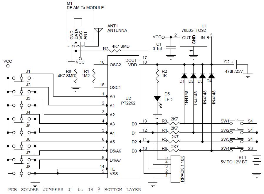 4-Channel-RF-Remote-Controller-TX-SCHEMATIC