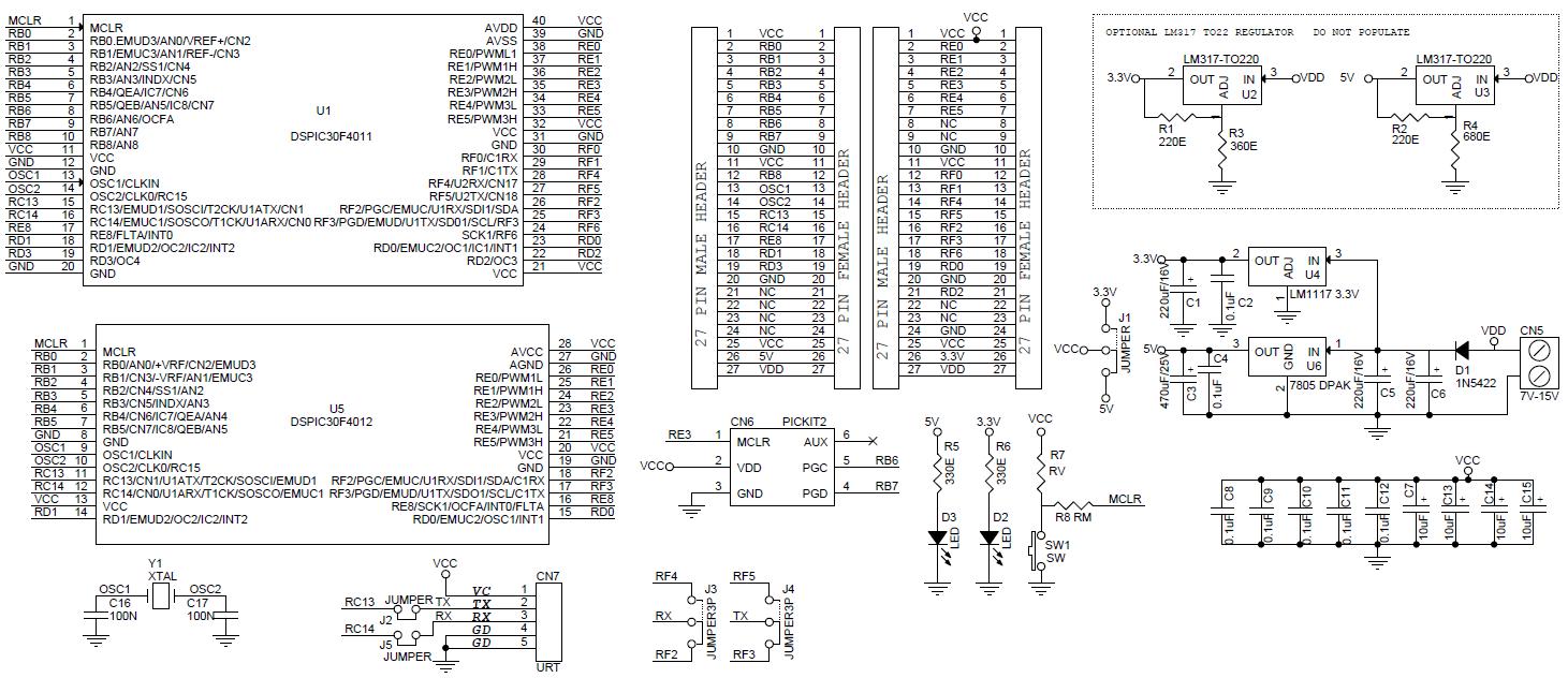 40-pin-28-pin-dspic-development-board-schematic