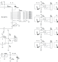 8 channel rs485 driven relay board schematic [ 1062 x 757 Pixel ]