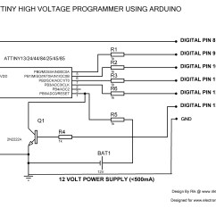 Convert Circuit Diagram To Breadboard 2007 Ford Focus Alternator Wiring Recover Bricked Attiny Using Arduino As High Voltage