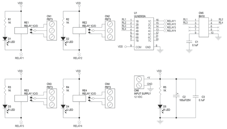 4-channel-large-current-relay-board-schematic