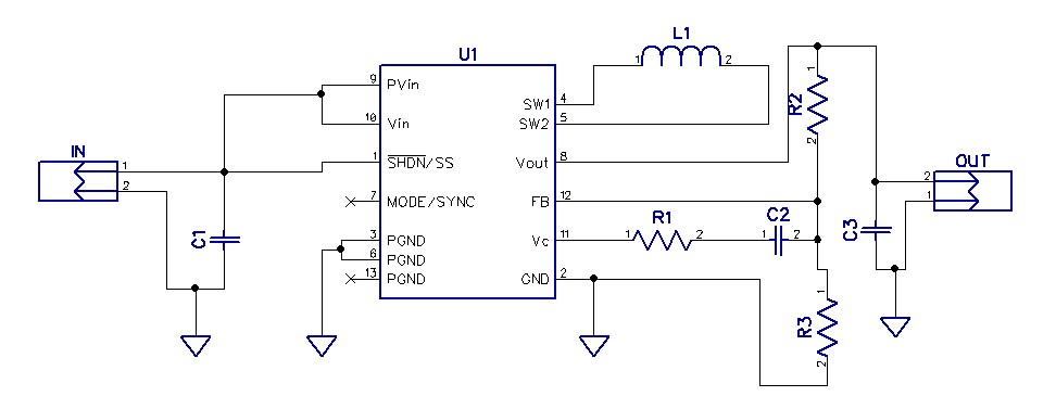 circuit diagram of buck boost converter electrical home wiring 2 5v 4 2v input to 3 3v output 1a using this can produce an and current continuously for a voltage varying from the ltc3441 is high efficient
