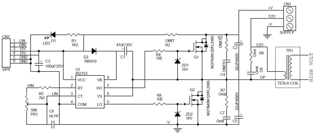 High Voltage-Current Half Bridge Driver Using IR2153